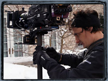 Carl with Sony F900R in snowy Chicago.