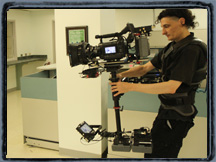 Sony F3 on PRO sled with Steadyrig arm.